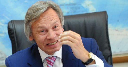 Пушков предложил Терезе Мэй взять на работу невменяемого генпрокурора Украины