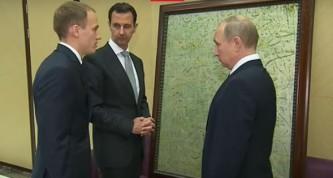 Путин получил в подарок от Асада картину