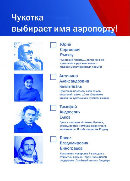 Чукотка приступила к финальному голосованию в общенациональном конкурсе «Великие имена России»