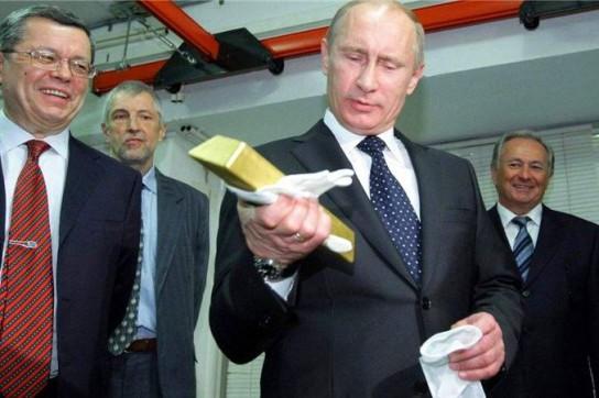 Россия хранит свой золотой запас в Москве