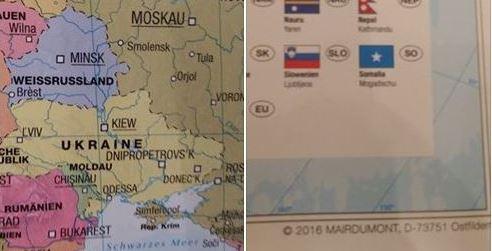 Украина в бешенстве: В Германии выпустили карту с российским Крымом