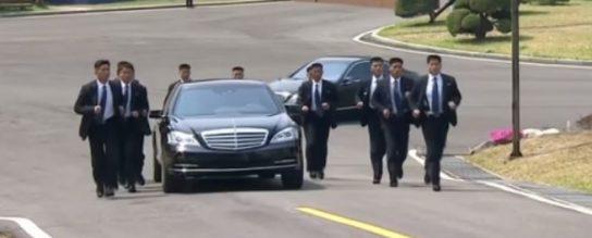 Ким Чен Ын загонял своих охранников во время встречи с южнокорейским лидером
