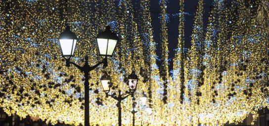Новогодняя подсветка останется на улицах Москвы до весны