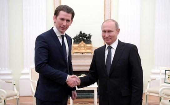 Владимир Путин встретился с канцлером Австрии Себастианом Курцем