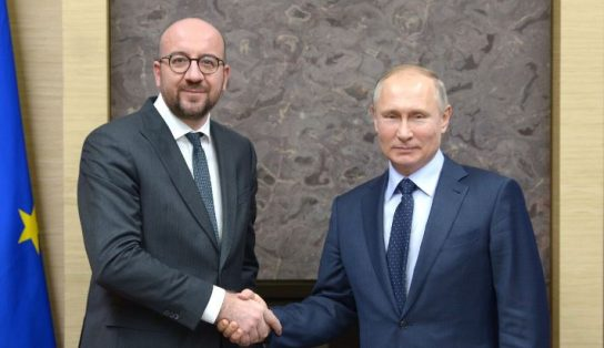 Президент России принял в своей резиденции премьер-министра Бельгии