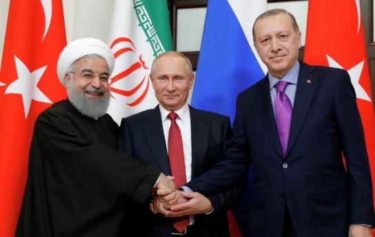 Путин, Эрдоган и Рухани обсудят мирное урегулирование сирийского конфликта