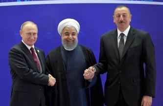 Путин встретился с главами Ирана и Азербайджана