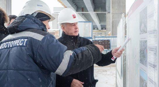 Собянин: строительство нового участка Северо-Восточной хорды завершат до конца года