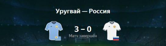 Без комментариев: Россия — Уругвай 0:3