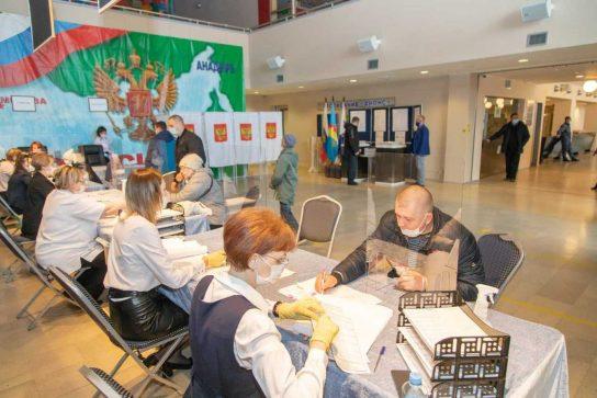 В Анадыре подвели итоги второго дня голосования