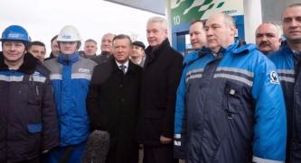 Собянин открыл крупнейшую в стране автомобильную газонаполнительную компрессорную станцию