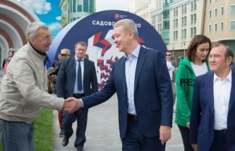 Собянин открыл площадь Красные Ворота на Садовом кольце