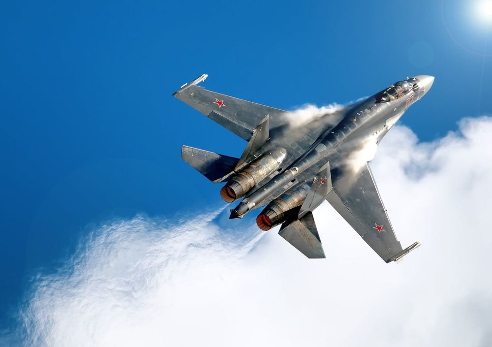 Российские Су-35 перехватили турецкие F-16 в небе над Сирией