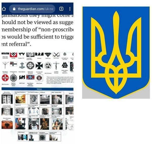 Британия назвала герб Украины экстремистским символом
