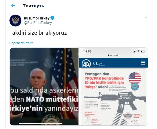 Посольство России рассказало об отношении США к Турции