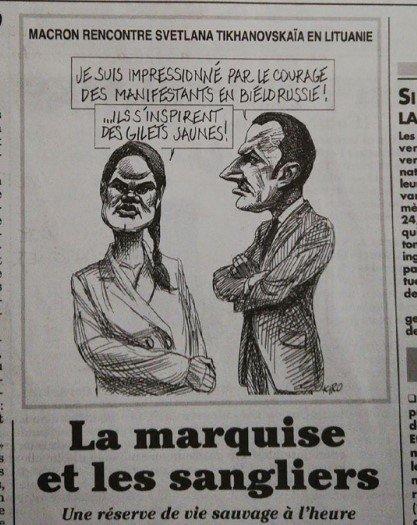 Французы высмеяли Макрона за встречу с Тихановской