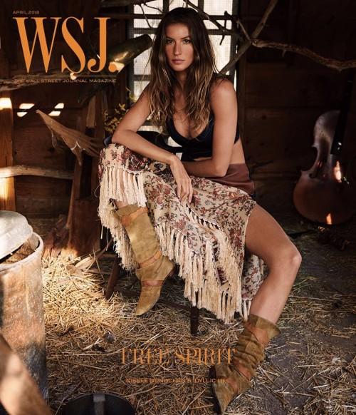 Жизель Бундхен в апрельском номере журнала WSJ