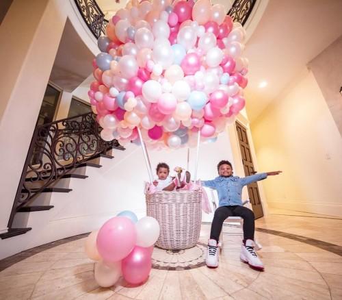 Первый день рождения дочери Сиары и Рассела Уилсона Сиенны Принцесс