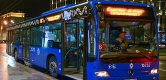В новогоднюю ночь общественным транспортом Москвы воспользовались более полумиллиона пассажиров