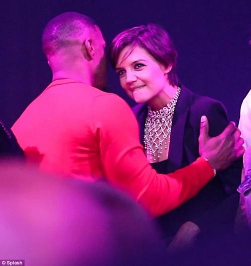 Кэти Холмс и Джейми Фокс вместе отметили 50-летие актера