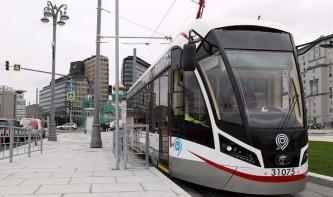 За первый месяц работы трамваями на площади Тверская Застава воспользовались 600 тысяч пассажиров