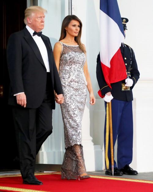 Как Мелания Трамп справилась с организацией первого государственного ужина в честь Эммануэля и Бриджит Макрон?