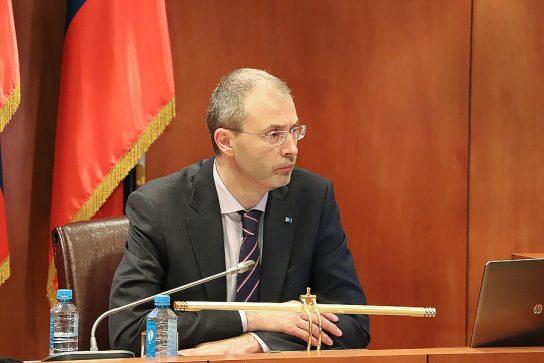 Губернатор Чукотки Роман Копин выступил с ежегодным докладом в окружной Думе