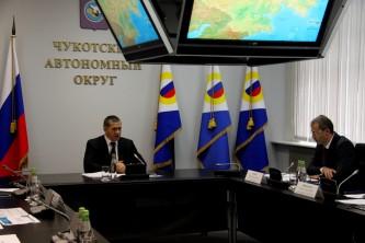 Полпред Президента в ДФО Юрий Трутнев провёл в столице Чукотки два совещания