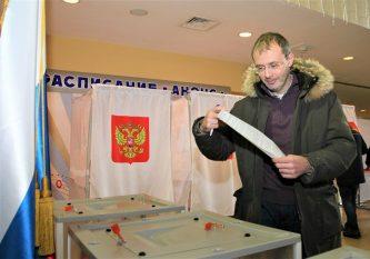 Губернатор Чукотки Роман Копин принял участие в выборах Президента Российской Федерации