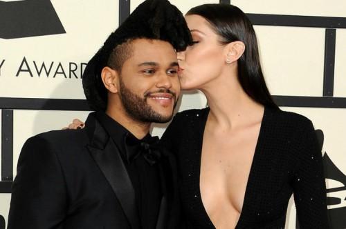 The Weeknd с Беллой Хадид на показе в Каннах