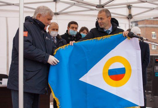 Губернатор Роман Копин принял участие в церемонии закладки атомного ледокола «Чукотка»