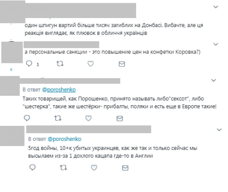 Украинцы оценили заявление Порошенко о высылке российских дипломатов из Незалежной
