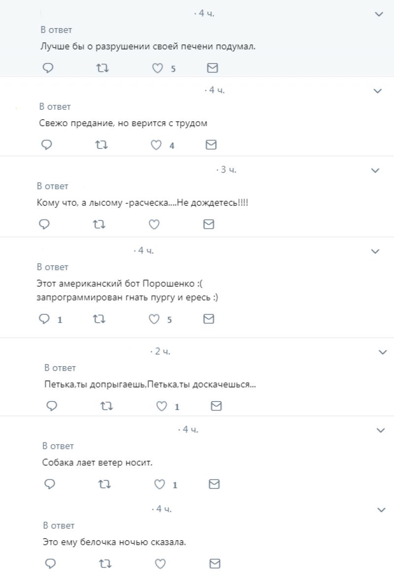 О том, что Россия «развалится» из-за газовых споров, Порошенко сообщила «белочка»