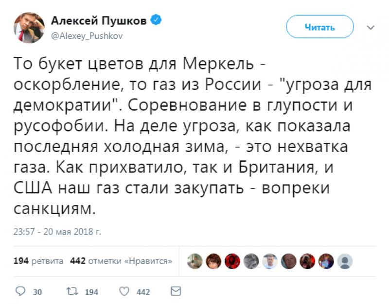 Российские парламентарии прокомментировали недовольство германских СМИ «путинским» букетом роз для Меркель
