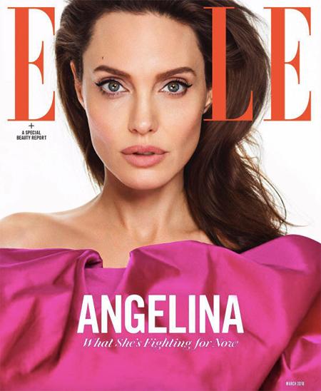 Анджелина Джоли в новом выпуске Elle