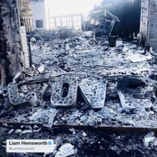 Дом Лиама Хемсворта и Майли Сайрус сгорел вследствие пожара