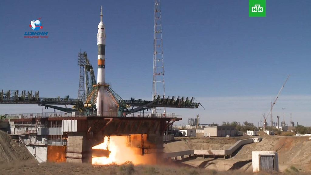 Во время старта «Союза» произошла авария — на борту ракеты находится экипаж