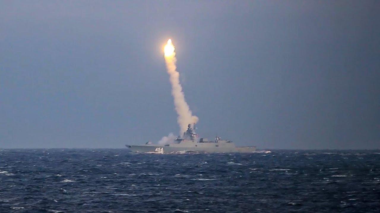 Минобороны опубликовало видео очередного пуска гиперзвуковой ракеты «Циркон»