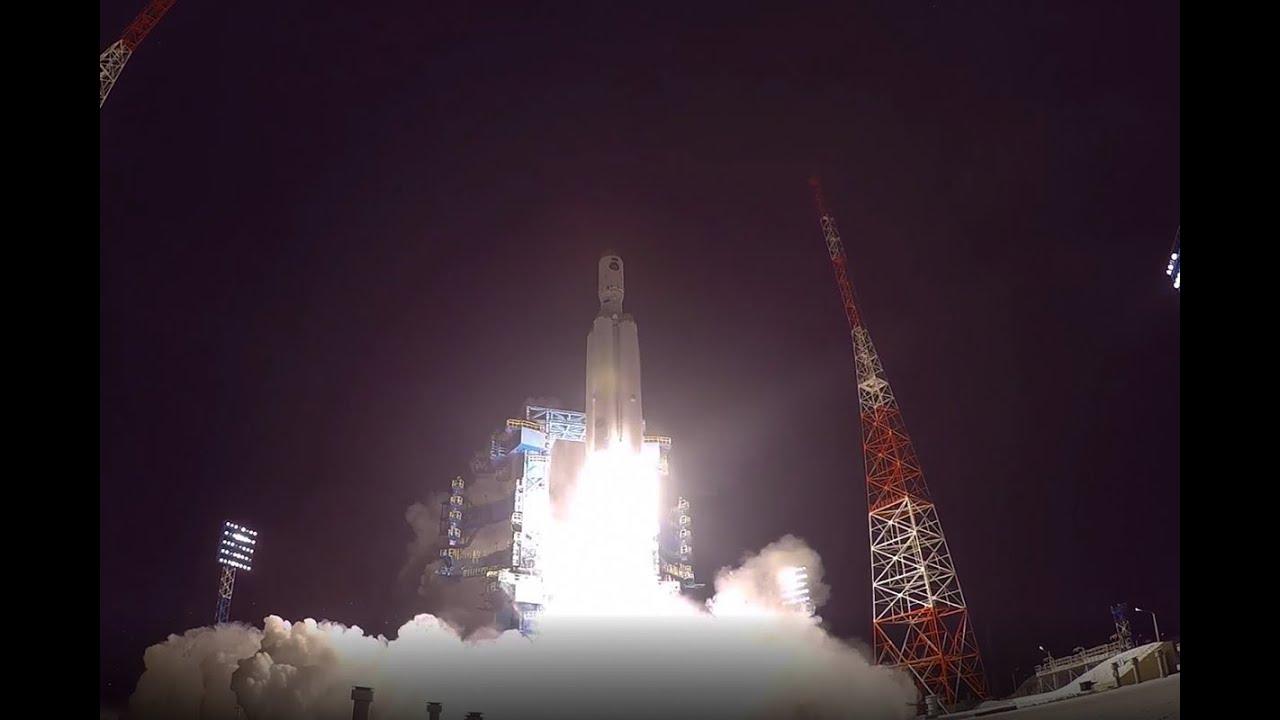 Опубликовано видео пуска тяжелой ракеты «Ангара-А5»