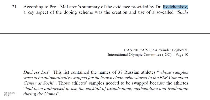 Родченков и Макларен отказались от своих «допинговых» обвинений в адрес российских спортсменов