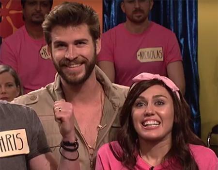 Лиам Хемсворт поддержал Майли Сайрус на съемках SNL