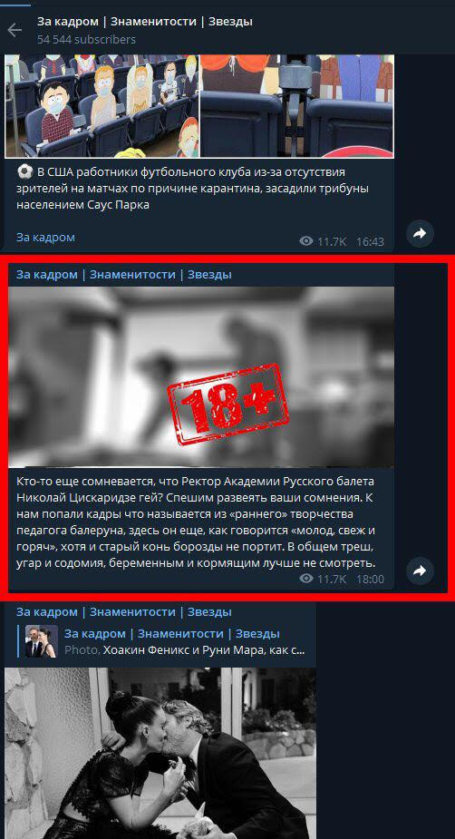 Николай Цискаридзе угодил в центр гей-скандала